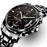 OLMECA Men's Watches Luxury Waterproof Fashion Quartz Women Watches Chronograph Stainless Steel Band Wristwatches for Men