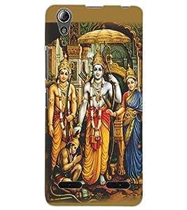 ColourCraft Lord Ram Laxaman Janaki and Hanuman Design Back Case Cover for LENOVO A6000 PLUS