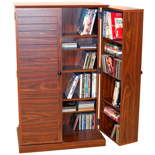 VICTORIA - CD / DVD / Blu-ray Multicolouredmedia Storage Cabinet - WALNUT