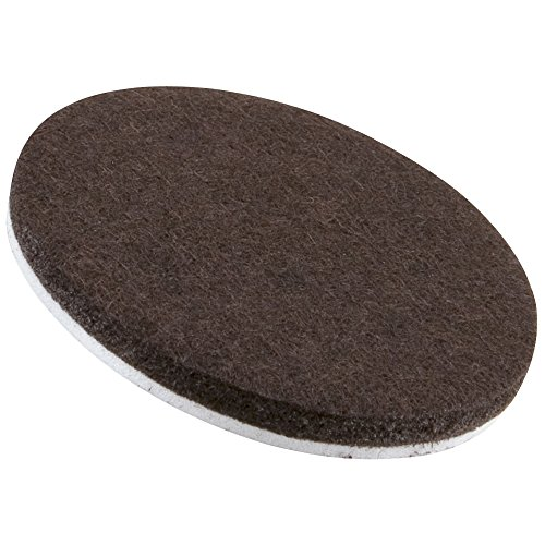 Self Stick 3 Heavy Duty Furniture Felt Pads For Hard Surfaces 4 Piece Brown Round Home