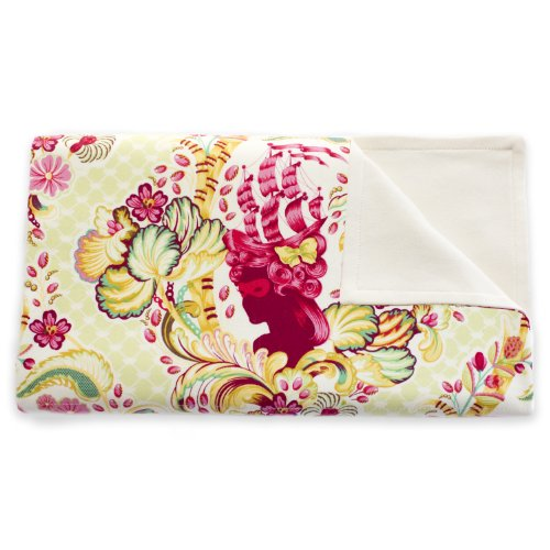 Organic Baby Blanket - Stroller Blanket - Soft & Light 100% Cotton - Baby Registry Shower Gift - Usa Made (Versailles) front-863121