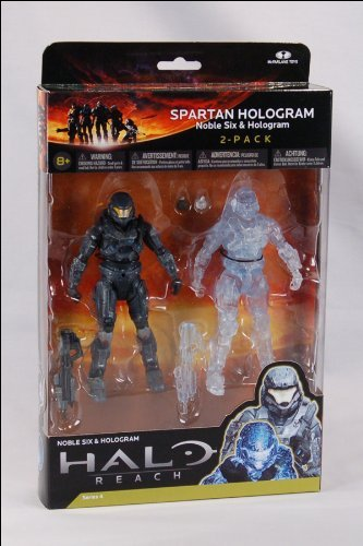 Halo Reach McFarlane Toys Series 4 Action Figure 2Pack Spartan Hologram Noble... (Halo Reach Spartan Action Figures compare prices)