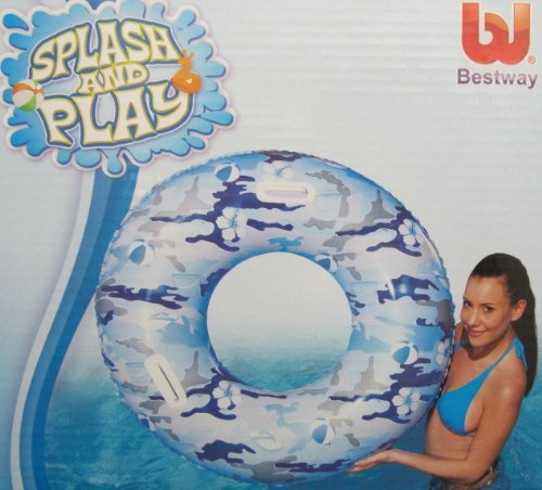 42 inch Camo Splash Swim Ring Great Swimming Ring or Swimming Pool Tube with 2 Grab Handles