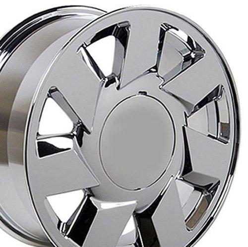 17x7.5 Wheel Fits Cadillac - DTS Style Chrome Rim (Bonneville Wheel Center Caps compare prices)