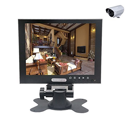 "7"" Tft-Led Cctv Monitor Bnc/Vga/Av Input Security Monitor Screen Display Hot"