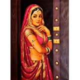 Lady At The Door - Oil On Canvas - Artist: Anup Gomay