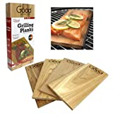 Grilling Planks - Outdoor Barbeque Smoking Grill Planks Variety Pack - Set of 4 (2 Alder, 2 Cedar)