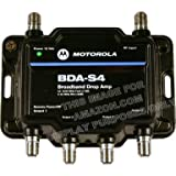 Motorola Signal Booster 4-Port BDA-S4 Cable Modem TV HDTV Amplifier ~ Motorola