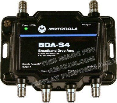 Motorola Signal Booster 4-Port Bda-S4 Cable Modem Tv Hdtv Amplifier