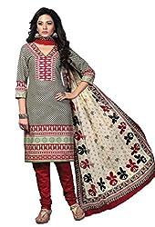 HIFI Ethnicwear Women's Dress Material GREY_Free Size