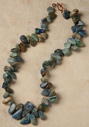 Azurite Necklace - Color and Matrix Will Vary