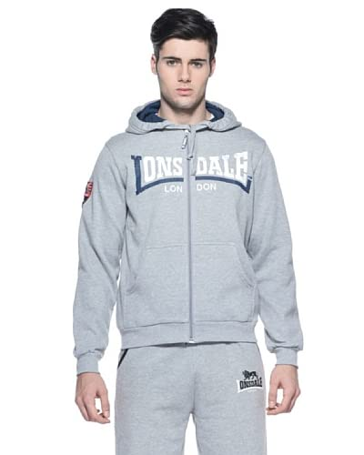 Lonsdale Men Hooded Zip Felpa