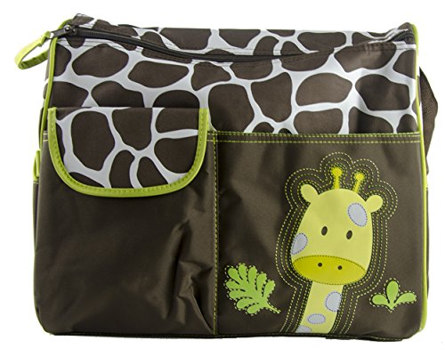 multifunctional-mummy-handbag-baby-diaper-nappy-changing-bag-giraffe-pattern