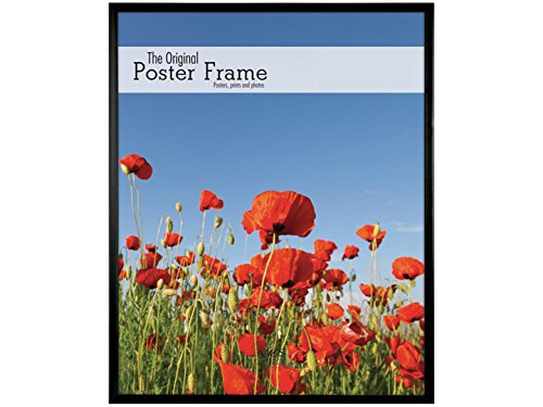 Black plastic POSTER size frame with Corrugated Backing ...