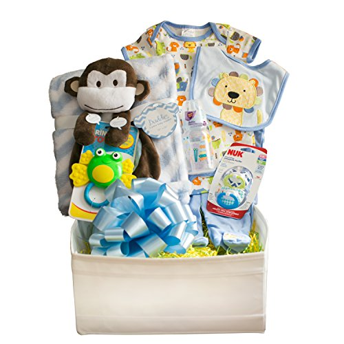 Twosies Deluxe Baby Gift Basket | Best Baby Gift on Amazon | Assorted Baby Items Set for Newborn Baby and Mommy in Reusable Drawer Organizer | By Twosies Baby Gifts