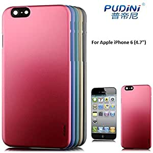 """Pudini Dark Color Hard Back Case Cover For Apple iPhone 6 (4.7"""" Inch) - Red/Meroon Colour"""
