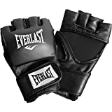 Everlast Train Advanced MMA 4-Ounce Competition Style Grappling Gloves (Black, Large / X-Large)