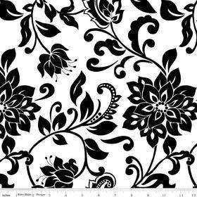 Mystique Flower White Yardage by Lila Tueller for Riley Blake Designs SKU# c3082-white