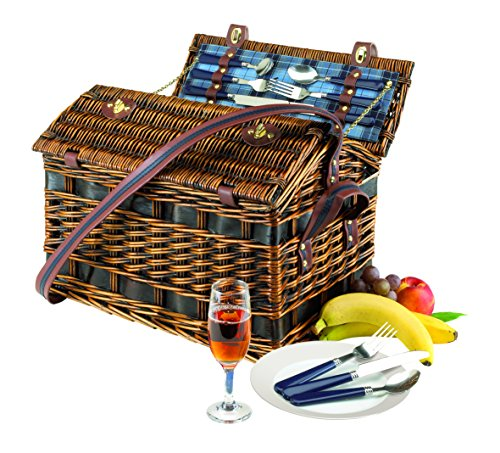 four-person-fitted-picnic-basket-summertime-weight-3800-g-with-fastening-strap