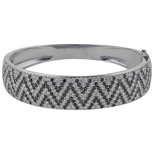 "Fashion \""Tanavi Silver\"" Fashion Bracelet With CZ Stone For Women (10895) (Multicolor)"