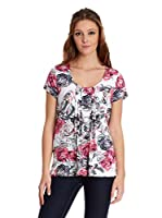 Viriato Camiseta Manga Corta (Rosa / Blanco)