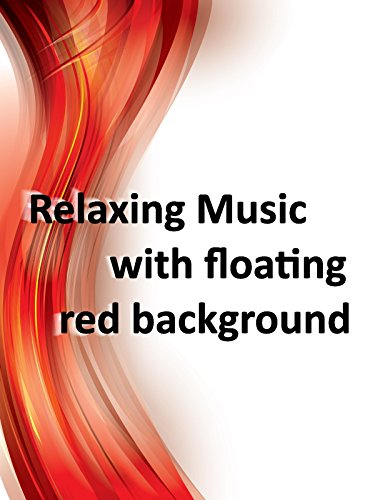 Relaxing music with floating red background