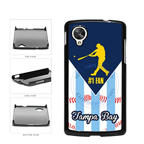 Tampa Bay Baseball Number One Fan Plastic Phone Case Back Cover For LG Google Nexus 5 D820 comes with Security Tag and MyPhone Designs(TM) Cleaning Cloth