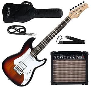 Rocktile Sphere Junior Guitare Eléctrique Ÿ sunburst SET avec ampli, cable et sangle