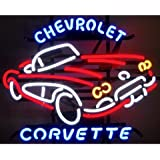 Neonetics 5CORVX Cars and Motorcycles GM Corvette Car C1 1950s Neon Sign
