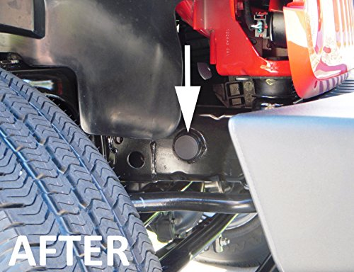 Jeep Wrangler JK Frame Hole Cover Plug Accessory Dress Up for all 2007 thru 2016 Models (Bumper Jeep Jk compare prices)