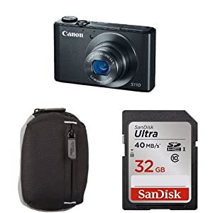 Canon PowerShot S110 Digital Camera Bundle (Black)