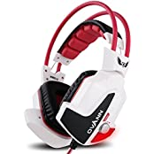 GranVela X60 Wired Stereo Over-Ear Gaming Headset With Noise Reduction Microphone Enhanced Bass LED Lighting And...