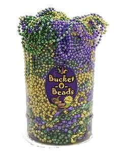 Metallic Purple Gold and Green Mardi Gras Beads - 12 Dozen (144 necklaces)