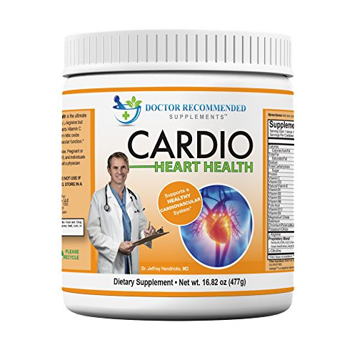 Cardio Heart Health - 5000Mg L-Arginine - 1000Mg L-Citrulline - 1 Lb Tub - Doctor Recommended Formula - Powder Supplement - Complete With Vitamins, Minerals, Plus Antioxidants Vitamin C And E For Total Cardiovascular System Health - Best Reviews -Created