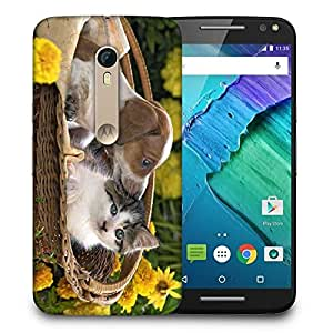 Snoogg Loving Puppy Printed Protective Phone Back Case Cover For Motorola X Style