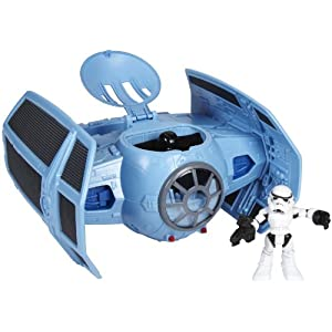 Star Wars Jedi Force Tie Fighter With Darth And Storm Trooper