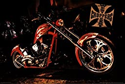 West Coast Choppers Poster- Red Bike (24 X 36)