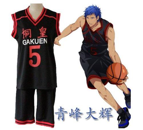 5 gleichm??ige Ober-und Untersatz LLL Gr??e Kos Chu Kost?m Kurokos Basketball Kirisumeragi Gakuen High School Uniform Nummer Aomine Daiki (Japan-Import) online bestellen