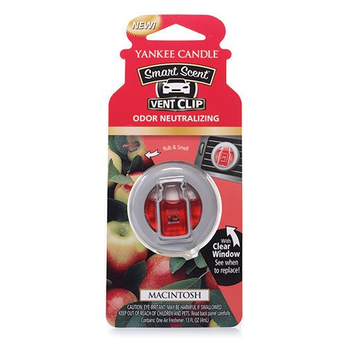 Yankee Candle Macintosh Smart Scent Car Vent Clip Air Freshener, Fruit Scent (Clip Air Freshener compare prices)