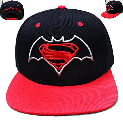 [HeyFun® Batman V Superman Inspired Snapback Hat Cap Baseball Hat Cosplay] (Baseball Bat Man Costume)
