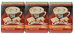 Hills Bros, White Chocolate Caramel Cappuccino, 16oz Container (Pack of 3)