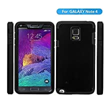 buy Samsung Galaxy Note4 Case,Jo-Box-Mall Note4 Case- Perfect Fit Protective,[Light Weight][Shockproof][Scratc Resistant],Stylish Eco-Friendly Packaging - Ultra Slim Bumper For Galaxy Note 4-(Black)