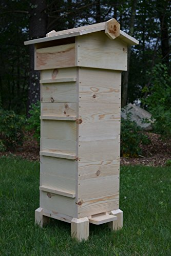 Warre Hive with Observation Windows (Complete 4 Box Warre Kit Fully Assembled)