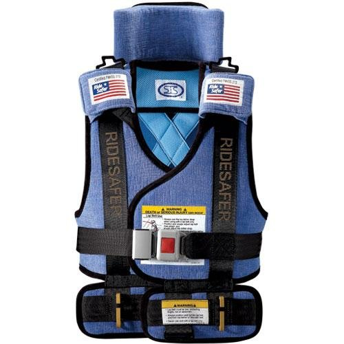 Find Bargain Safe Traffic System Ride Safer 2 Travel Vest, Blue, Small
