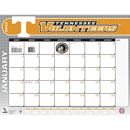Turner Perfect Timing 2015 Tennessee Volunteers Desk Calendar, 22 X 17 Inches (8061400)