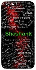 Shashank (Moon) Name & Sign Printed All over customize & Personalized!! Protective back cover for your Smart Phone : Moto G2 ( 2nd Gen )