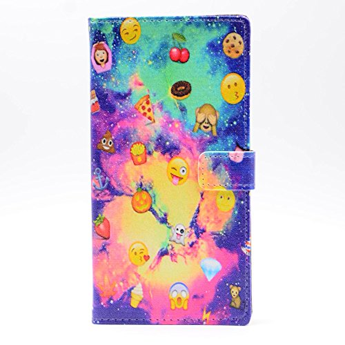 Nebula Galaxy Cool Smiley Faces emoji Cherry pizza chips Ice cream Anchor Pumpkin Pattern Leather Wallet Credit Card Holder Pouch Flip Stand Case Cover For Samsung Galaxy S7 (Pizza Pedestal Stand compare prices)