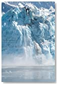 A Glacier Calving a Sheet of Ice, Alaska: Blank 150 page lined journal for your thoughts, ideas, and inspiration