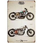 ERLOOD Motorcycle Retro Vintage Decor Metal Tin Sign 12 X 8