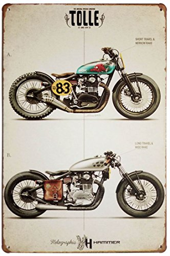 ERLOOD Motorcycle Retro Vintage Decor Metal Tin Sign 12 X 8 0